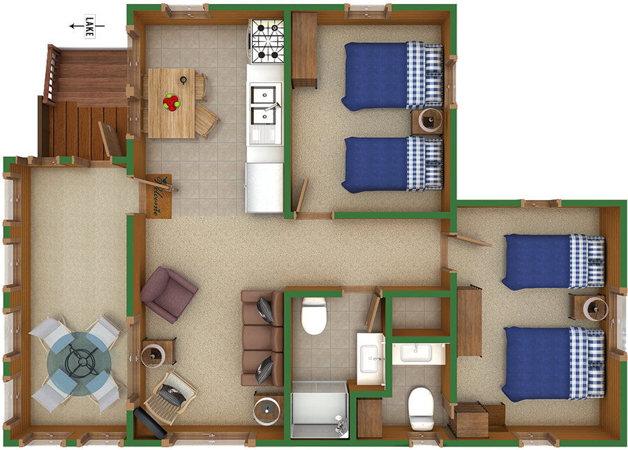 Cottage 19 Floorplan – Brindley's Harbor