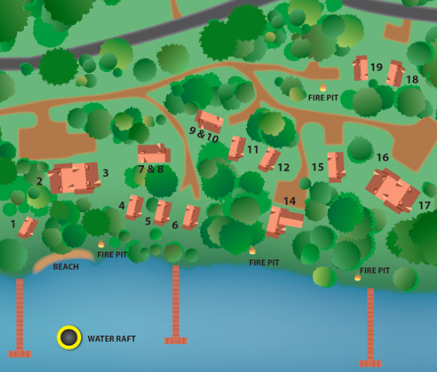 Resort Map – Brindley's Harbor