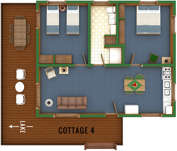 Cottage 4 Floor Plan