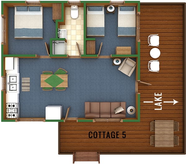 Cottage 5 Floor Plan