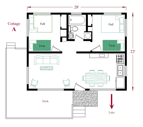 Cottage A floor plan 20120904